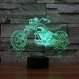 Night Light Motorrad 3d Lampe Led 7 Farbwechsel Usb Tisch Lampenatmosphäre Nachtlicht-tauchleuchte Für Kinder Spielzeug Geschenke