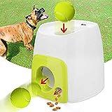 PETAMANIM Interaktive Ballwerfer für Hunde, Ballwerfer mit 1 Tennisball, automatischer Tennisball Wurfmaschine für Welpen, interaktives Apportier-Spielzeug, für IQ-Training