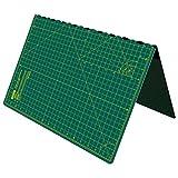 ANSIO Faltbare selbstheilende Schneidematte A2. Ideal für Bastel, Quilten, Nähen, Scrapbooking, Stoff & Papercraft - Imperial - 23 x 17 Zoll - Grün