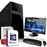 KOMPLETT Set PC System Rechner FX 4100 4x3,8 GHz 8GB WLAN Computer 24 TFT