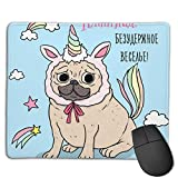 Gaming Mouse Mat, Hundewolken Sterne Mouse Mat Personalisierte Anpassung Gaming und Office Mouse Mat Genähte Kante Office Thicker Mouse Pad