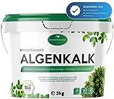 Weidenfelder 3kg Algenkalk - 100% reines, natürliches Pulver - Regeneration, Widerstandskraft - für Bio-Anbau, Buchsbaumdünger, Naturdünger