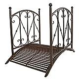 Benelando® Gartenbrücke aus Metall mit Geländer