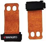 TrainedTo Crossfit Handschuhe und Fitness Handschuhe für Crossfit, Gymnastik, Kraftsport und Pull Ups ‐ Aus Echtem Leder ‐ Beugen Sie Handverletzungen beim Training vor (Verbesserte Version)