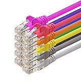 1aTTack CAT5 UTP Netzwerk-Patch-Kabel mit 2X RJ45 Stecker Set 10-Farben - 0,5m