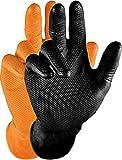 Grippaz Gripster Nitril Handschuhe extrem robust und reißfest pattentierte Schuppenprägung (3XL, orange)