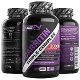 L-Carnitin Triple Komplex - 3000 mg je Tagesportion - Premium: Komplex aus Acetyl-l-carnitin, L-Carnitin Tartrat & Carnitin Fumarat - 120 Kapseln - Hochdosiert - Vegan