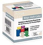 Höga Höga-Haft-Color 6cm x 4m, hautfarben, kohäsive (auf sich selbsthaftend) Fixierbinde, luftdurchlässig, sehr elastisch, rutschfest, 26 g
