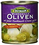 Feinkost Dittmann Oliven gefüllt mit Knoblauchcreme, 8er Pack (8 x 85 g)