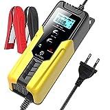 AUTOXEL Batterie Ladegerät Auto, 6V 2A/12V 6A Intelligente Ladegerät/Betreue Batterieladegerät KFZ mit LCD für Autobatterie, Motorrad, Rasenmäher oder Boot