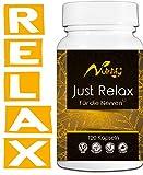 nutritify® JUST RELAX - natürlicher Stimmungsaufheller (120 Kapseln) Serontonin-Vorstufe L-Tryptophan und B6² für die Psyche & Nervensystem - mit Gingko, Rosenwurz & L-Taurin - veganes Markenprodukt