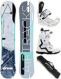 Airtracks Damen Snowboard Set/Drom Lady Rocker 155 + Snowboard Bindung Master + Snowboardboots Savage W 41 + Sb Bag