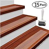 15 x Antirutschstreifen Treppe Set Anti Rutsch Selbstklebende Stufenmatten Transparent Rutsch Streifen als Rutschschutz Treppenstufen Matten 10cm x 61cm