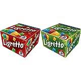 Schmidt Spiele 01301 - Ligretto rot, Kartenspiel &  Spiele 01201 - Ligretto grün, Kartenspiel