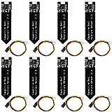 Bodenfeuchtesensor Kapazitive für Arduino Feuchtigkeitserkennung Erde inkl. Anschlussleitung, analoger Ausgang für z.B. Arduino(8 Stück)