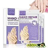 Hand Maske Handschuh Feuchtigkeitscreme Handmaske Feuchtigkeits Maske Hand Masken Für Trockene Hände, Handpeel-Maske, Spa-Handschuhe Feuchtigkeitsspendende Handschuhe für Rough Skin für Männer, Frauen