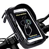 LEMEGO Wasserdicht Fahrradlenkertasche Handyhalterung Handyhalter Fahrrad Tasche Fahrradtasche Rahmentaschen für Handy GPS Navi und andere Edge bis zu 6 Zoll Geräte