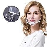10 Stück Mund Gesichtsschutz Gesichtsschild aus Kunststoff Schutzvisier Visier Schutzschild Anti-Fog Anti-Saliva Splash