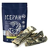 ICEPAW Dorschkauriegel 2X 100g - 100% Dorsch,fettarm, perfekt zur Zahnpflege, Kauspaß