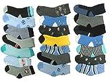 Unbekannt 10 Paar Jungen Thermo Winter Socken Größe 23-35 (23-26)