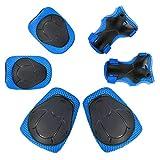 Yeemg Kinder Handgelenkschoner Knieschützer Ellenbogenschoner Protektoren Set 6 Teilig Schutzset für Skate Fahrrad Radfahren Reiten Skateboard Roller Skate (Blau)