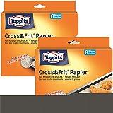 Toppits® Cross & Frit Papier Back-Spezialpapier Snackpapier 8 Bögen (2er Pack)