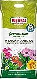 Substral Performance Organics Pflanzerde Premium Blumenerde, Hochwertige Bio Erde für alle Zimmer-, Balkon- & Gartenpflanzen, 20 Liter Sack