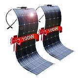 DOKIO 2 * 100W Solarpanel flexibel Mono 200W 12V - Solarmodul ideal für Wohnmobil, Camping, Gartenhaus