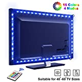 LED TV Hintergrundbeleuchtung OMERIL 2.2M USB LED Strip RGB LED Fernseher Beleuchtung mit 24-Key Fernbedienung, Hintergrundbeleuchtung Fernseher für 40-60 Zoll HDTV, TV-Bildschirm, PC, Spiegel usw.