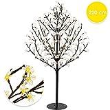 KESSER Kirschblütenbaum 220 LED | 220cm Lichterbaum Indoor Outdoor Metallfuß Stabil | Weihnachten Beleuchtung Leuchtbaum Warmweiß