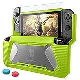 HEYSTOP Schutzhülle für Nintendo Switch, Switch Hülle Cover Plus Schutzfolie,stoßfest,Kratzfest,aus widerstandsfähigem Polycarbonat. Farbe:Grün