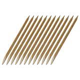 12 Rosenholzstäbchen/Manikürstäbchen für Gel und Acryl mit Spitzer und flacher Seite