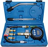 BGS 8980 | Digital-Kompressionstester für Benzinmotoren | 7-tlg. | Kompressionsprüfer-Satz | Kompressionsmesser | Testgerät