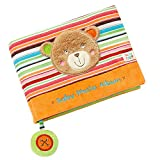 Fehn 091410 Fotobuch Teddy – Weiches Soft-Bilderbuch für 6 Fotos á 10x15 cm – Spielerisch Gesichter merken und Namen lernen für Babys und Kleinkinder ab 0+ Monaten – Maße: 20x15cm