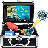 okk Unterwasser-Angelkamera, 7-Zoll-TFT-Monitor 12-teilig LED 1000TVL HD-Fischfinder mit tragbarer Tragetasche, wasserdichte Angelvideokamera für EIS- / See- / Flussfischen CCD 15M-Kabel