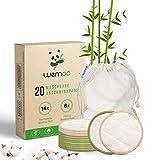 Waschbare Abschminkpads I 20 wiederverwendbare Abschminktücher aus Bambus & Baumwolle mit Wäschebeutel | Wattepads waschbar und wiederverwendbar | Nachhaltige Plastikfreie Bio Produkte | Zero Waste