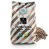 VOLLMER Caffè Crema in ganzen Bohnen - Premium Kaffee aus Privatrösterei - Bio Fairtrade Kaffeebohnen - Frisch und schonend geröstet im Münsterland - 500g ganze Bohne mittlere Röstung