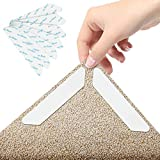 Teppichgreifer Antirutschmatte,Antirutschmatte für Teppich, 24 Stück Washable Wiederverwendbar Teppich Aufkleber, Strong Stickiness, Rutschfester Teppichgriff für Hartholzböden, Teppiche und Matten