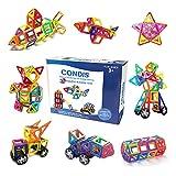 Condis Magnetische Bausteine, Magnetspielzeug Magnete Kinder Magnetbausteine Magnet Spielzeug Kinder Magnetspiele für Kinder Kinderspielzeug Puzzle Geschenk ab 2 3 4 5 6 7 Jahre Junge Mädchen 78 Teile