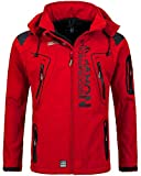 Geographical Norway Techno Softshelljacke Herren, Abnehmbare Kapuze S rot