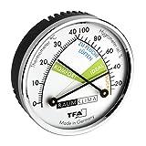 TFA Dostmann Thermo Analoges Thermometer Hygrometer mit Metallring, Luftfeuchtigkeitsmessgerät, Mehrfarbig, L120 x B29 x H235 mm