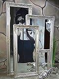 Livitat® Wandspiegel 140 x 50 cm Spiegel Badspiegel barock antik Silber LV9010