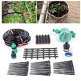 Wangkangyi Regner Wassersparender Schlauch-Regner für Bewässerung von Pflanzenreihen und Beeten, Wasserersparnis bis 70%, individuell anpassbar, leicht zu bedienen, Schlauchlänge: 25 m