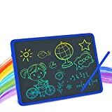 LCD Writing Tablet, 11 Inch Colourful Screen Electronic Writing and Drawing Board, Erasable Reusable Doodle Pad Tablet for Kids and Adults at Home, School, Office(Blau)