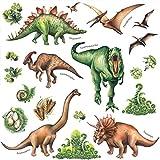 Aquarell Dinosaurier Kids Wandtattoo,Dinosaurier Wandtattoo,Wandsticker,Aufkleber,Wandaufkleber Wohnzimmer,Wandaufkleber Kinderzimmer,Wandsticker Dekoration,Wandaufkleber,Selbstklebendes Wandbild