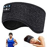 WU-MINGLU Bluetooth-Stirnband, Schlafkopfhörer, kabellos, Musik-Sport-Stirnbänder für Herren, Frauen mit dünnem und coolem Stoff & verstellbare Kopfhörer für Laufen, Yoga
