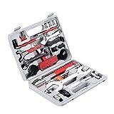 Yorbay Fahrrad Werkzeugkoffer 48-TLG Werkzeugset im praktischen Tragekoffer universelles Fahrradwerkzeug zur Fahrradreparatur zu Hause