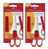 Faber-Castell - Schulschere Grip mit Klingenschutz (2x rot)