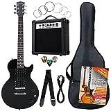 Rocktile Banger's Pack Komplettset E-Gitarre Single Cut Schwarz (Verstärker, Tasche, Kabel, Gurt, Plecs, Ersatzsaiten und Schule mit CD/DVD)