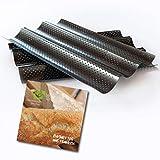 Baguette-Blech antihaft-beschichtet Baguette backen mit perforierten Backblech mit Baguette Rezepte eBook per E-Mail